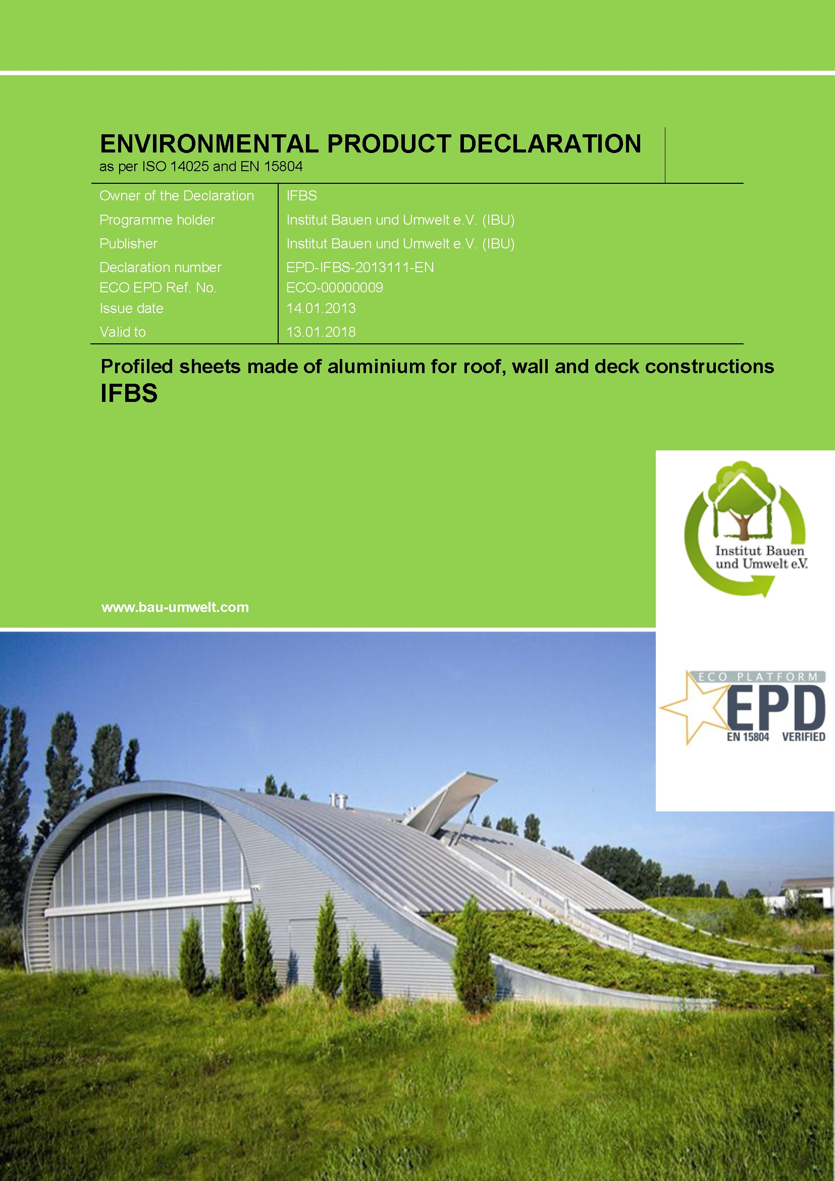 EPD for aluminium profiles